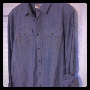 True Religion authentic utility chambray shirt